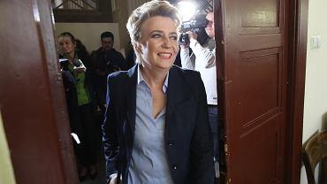Hanna Zdanowska w sądzie.