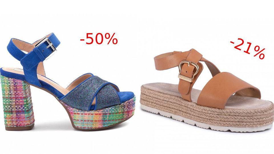 Wyprzedaż sandałów na naturalnych tworzywach