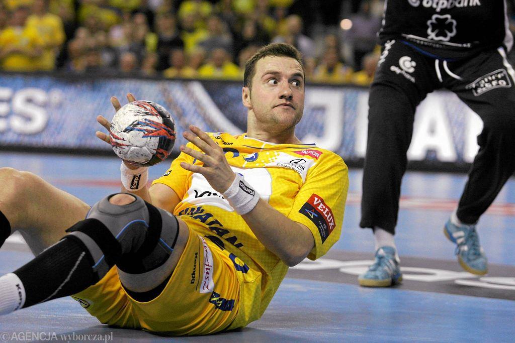Mariusz Jurkiewicz podczas meczu Vive Tauron Kielce - Pick Szeged