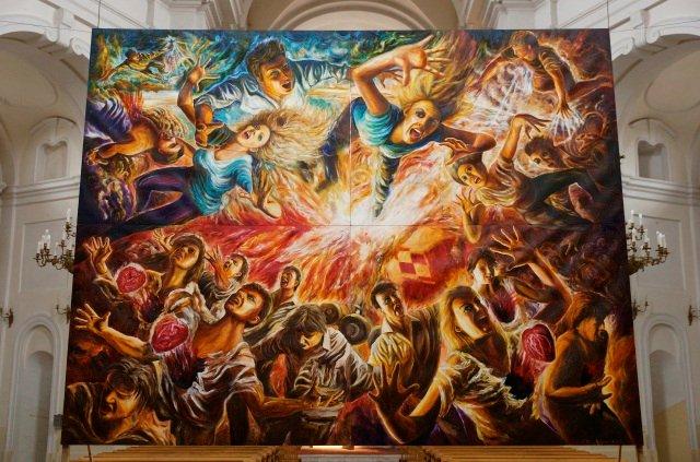 Obraz poświęcony katastrofie w Smoleńsku, autor: Zbigniew Dowgiałło