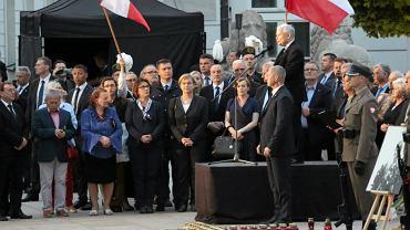 Jarosław Kaczyński na 86. miesięcznicy smoleńskiej