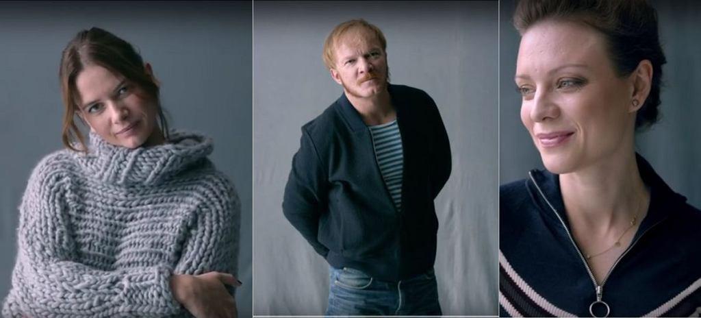 Karolina Malinowska, Eryk Lubos i Magdalena Boczarska w kampanii 'Kochanie to sztuka'