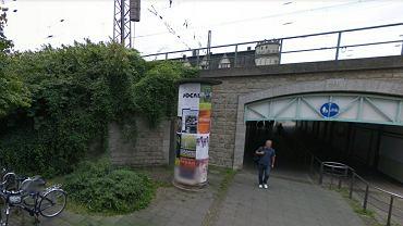 Okolice dworca w Bielefeld, gdzie doszło do przestępstwa