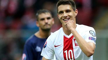 Bartosz Kapustka w meczu Polska - Gibraltar