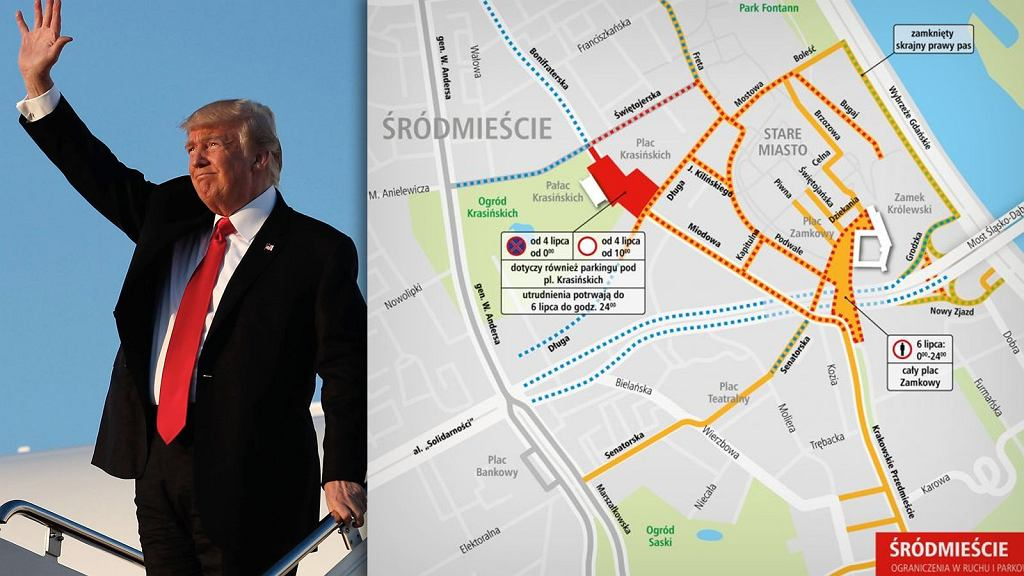 Donald Trump i mapa utrudnień