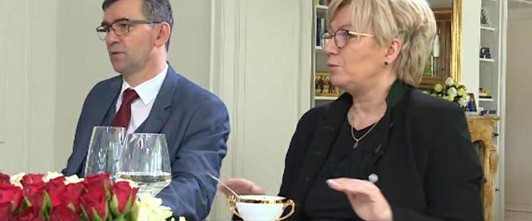 Przyłębska z mężem opowiadała w niemieckiej TV o polskiej kuchni