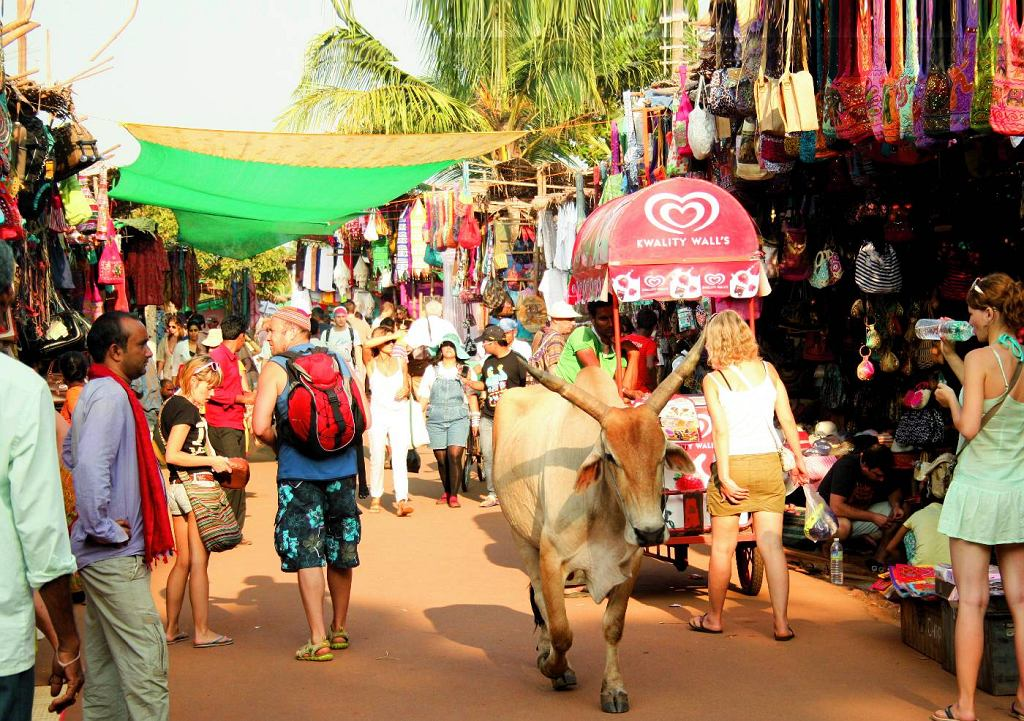 Bazar w Goa