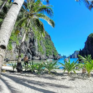 Ukryta Plaża na Palawanie na Filipinach