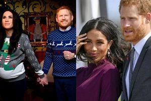 Księżna Meghan i książę Harry jako żywe figury woskowe