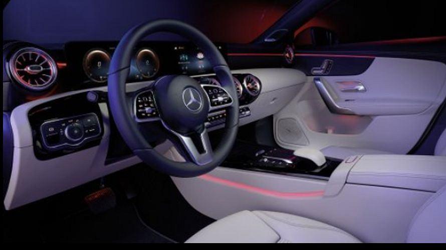 Wnętrze Mercedesa CLA