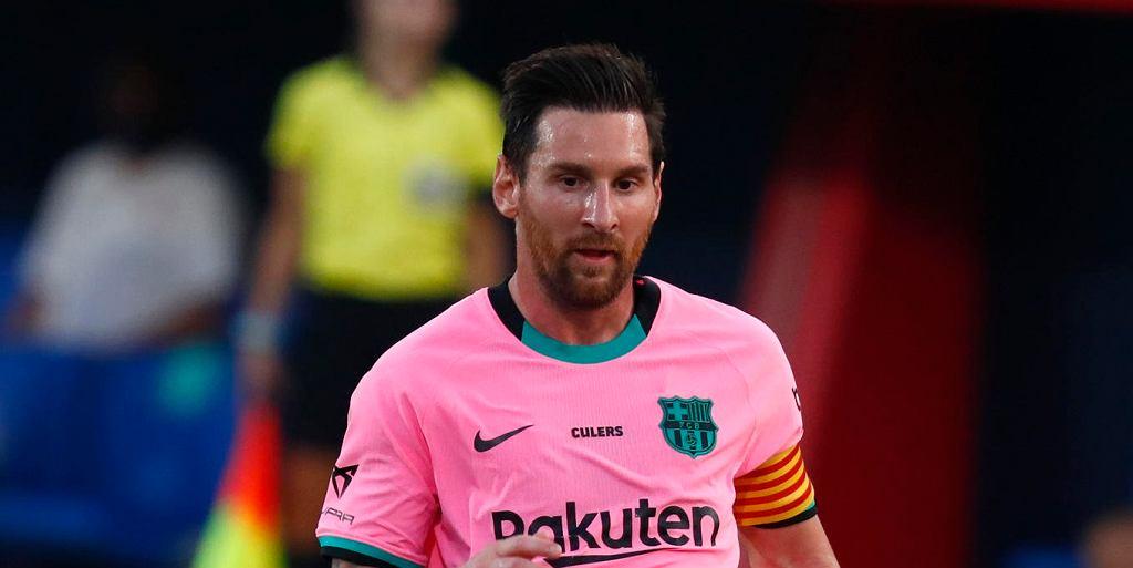 Lionel Messi w meczu Barcelona - Girona