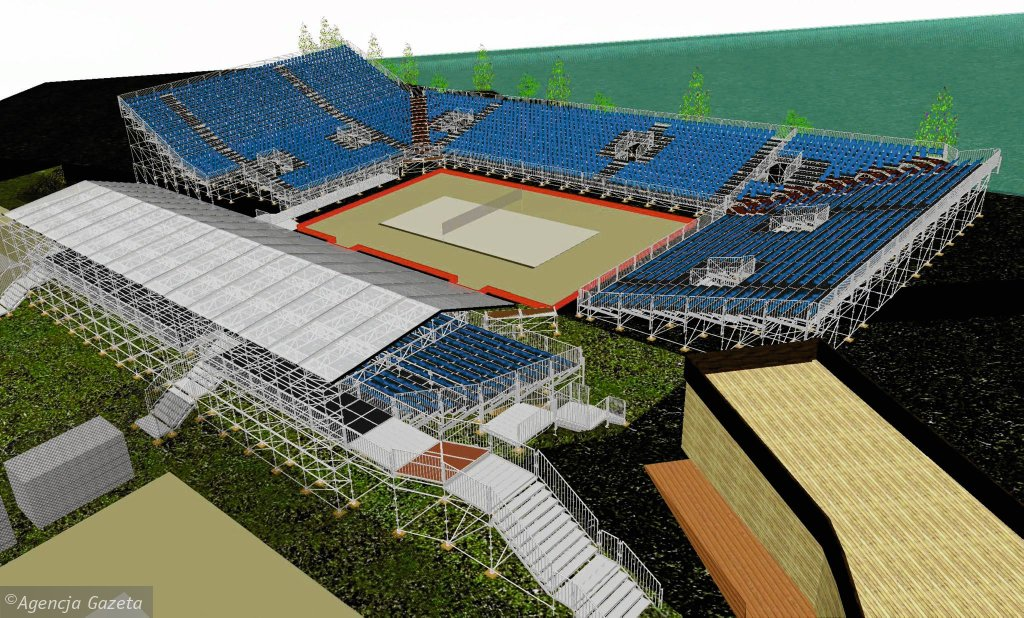 Wizualizacja stadionu głównego Grand Slam Olsztyn 2015