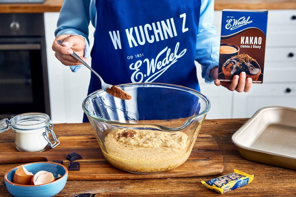 Brownie z solonym karmelem i sezamkami - krok 1