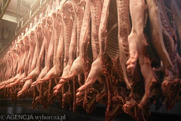Mięso w ubojni w Bedoniu