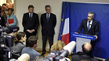 Francois Molins, prokurator generalny Francji, podczas konferencji prasowej