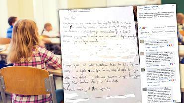 Uczennica przez nadmiar obowiązków nie przygotowała się do sprawdzianu. Napisała list do nauczycielki, w którym się tłumaczy zmęczeniem