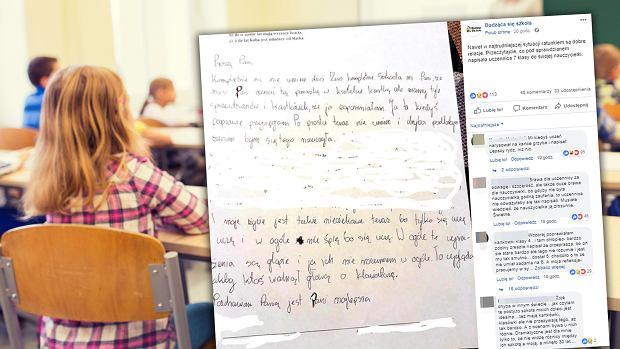 """Uczennica nie dała rady nauczyć się do testu. Napisała poruszający list do nauczycielki. """"W ogóle nie śpię, bo się uczę"""""""