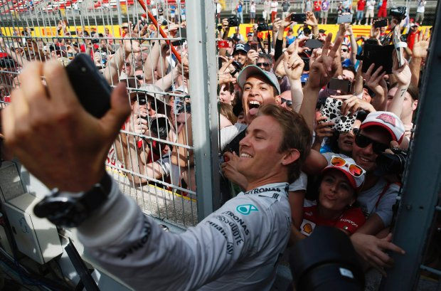 Mercedes Formula One driver Nico Rosberg of Germany takes a