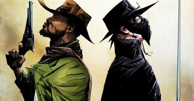 Django i Zorro na okładce komiksu