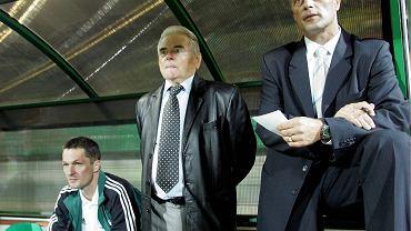 Tercet trenerski Krzysztof Gawara, Lucjan Brychczy, Jacek Zieliński