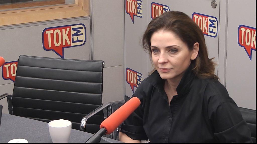 Joanna Mucha w studiu TOK FM