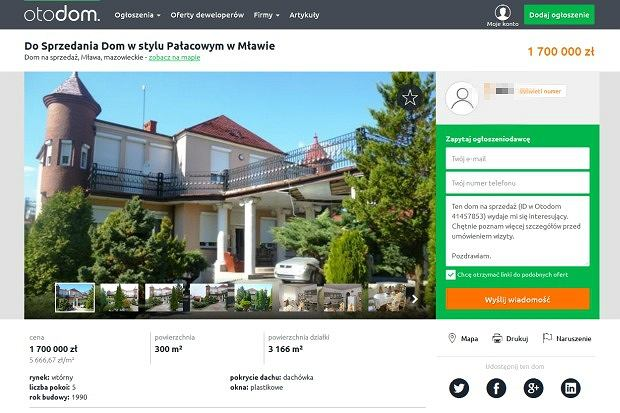 Do Sprzedania Dom w stylu Pałacowym