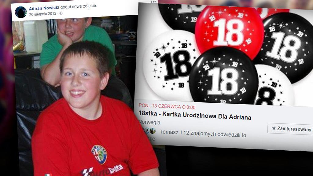 Adrian kończy 18 lat. Jego mama prosi o kartki z życzeniami dla swojego syna, bo nie może liczyć na swoich znajomych