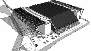 Wizualizacja przebudowy hali Podpromie