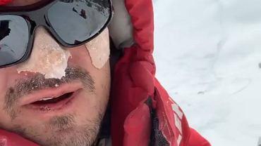 Dawid Ogrodnik na planie 'Broad Peak'