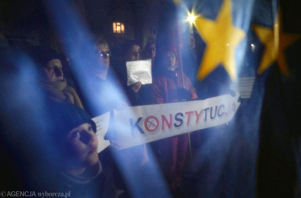 Częstochowa, 23 stycznia 2020 r. Demonstracja w obronie niezależnych sądów
