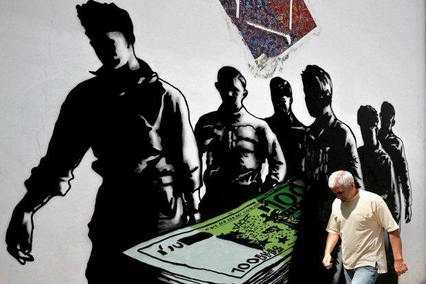 Zdjęcie numer 0 w galerii - Antysystemowe murale na ulicach Aten. Greccy artyści komentują kryzys