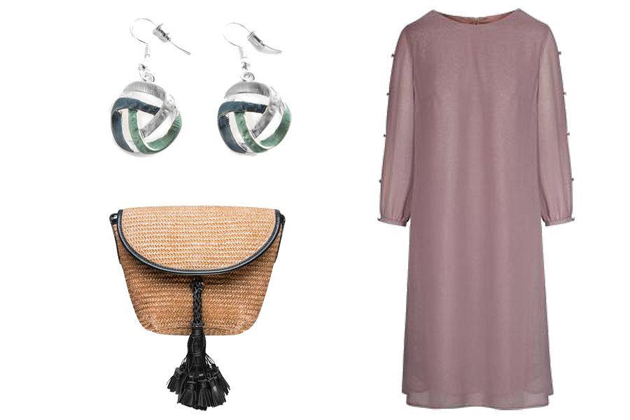 Kolaż, sukienki na wesele/Materiały partnera