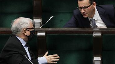 Jarosław Kaczyński i Mateusz Morawiecki.