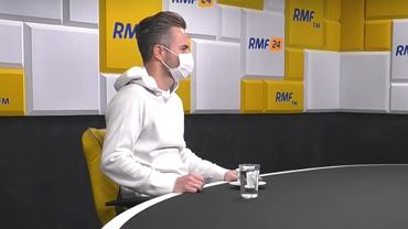 Adam Hofman podczas rozmowy w RMF FM.
