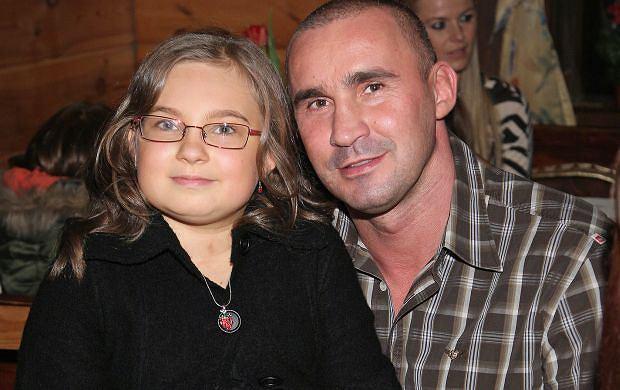 Przemysław Saleta z córką, Nicole.