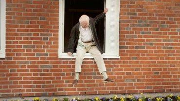 Stulatek, który wyskoczył przez okno i zniknął, reż. Felix Herngren