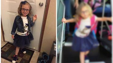 Zdjęcia z pierwszego dnia w szkole - przed i po