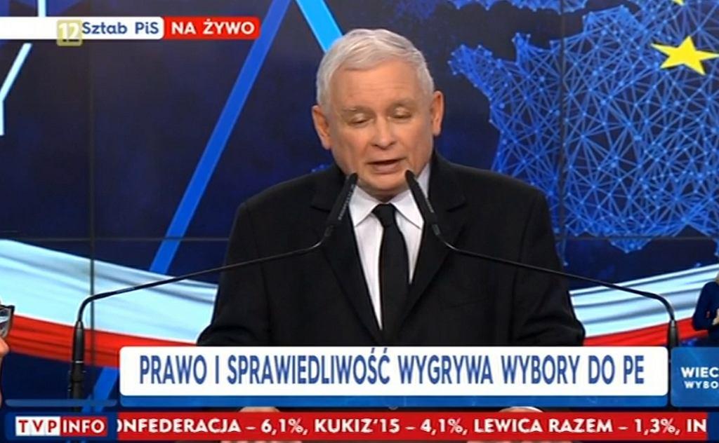 Wybory do europarlamentu 2019. Sztab wyborczy PiS, Jarosław Kaczyński