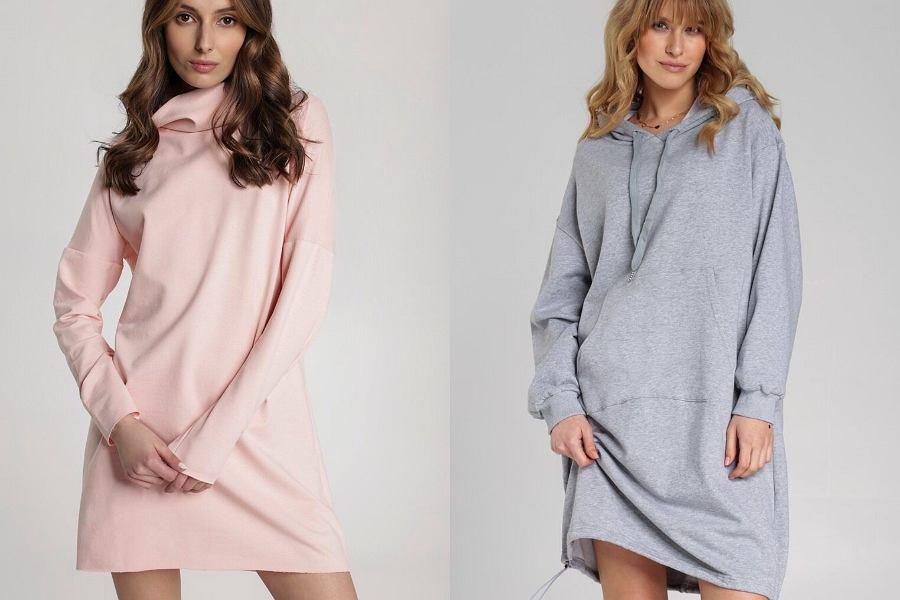 sukienki z kapturem
