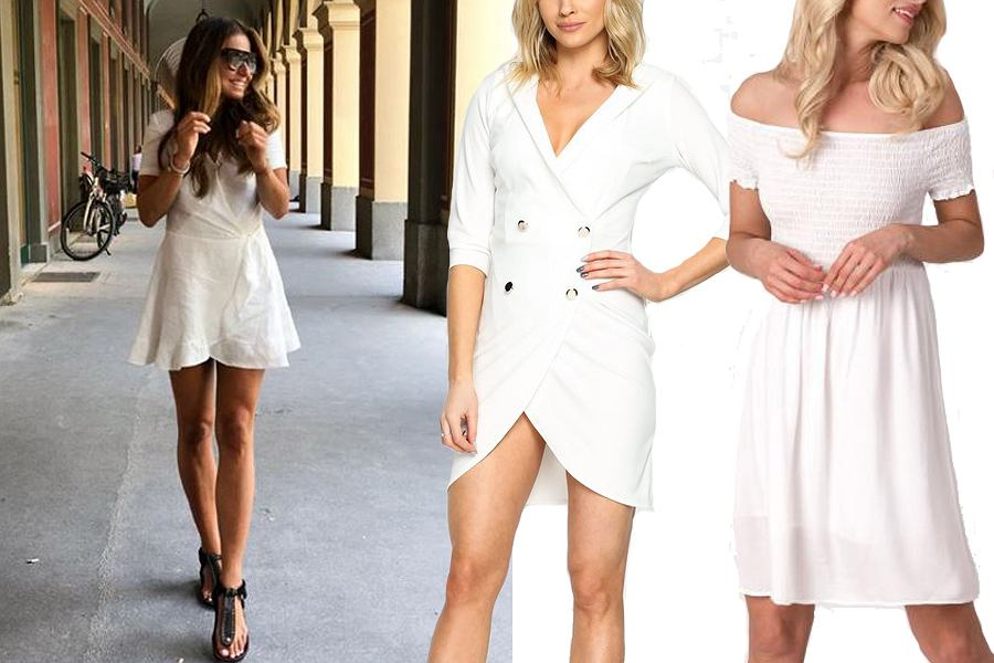 biała sukienka/mat. partnera