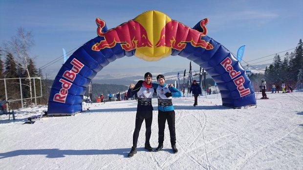 Damian i Bartek przed startem w Red Bull Biegu Zbójników