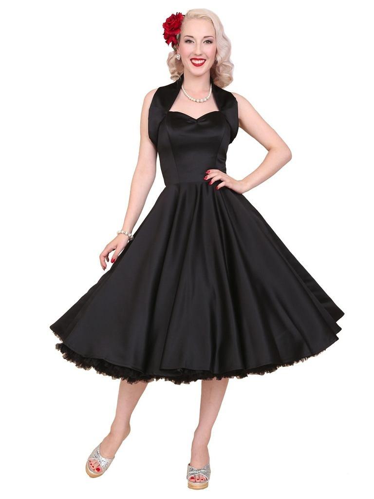 Czarna sukienka Vivien of Holloway w stylu lat 50.