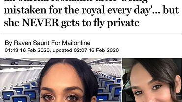Stewardessa wygląda jak Meghan Markle