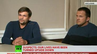 Aleksandr Pietrow i Rusłan Boszirow podczas wywiadu dla Russia Today