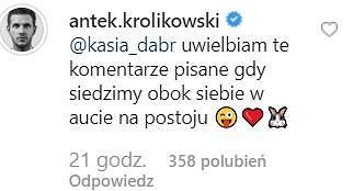 Komentarz Antka Królikowskiego