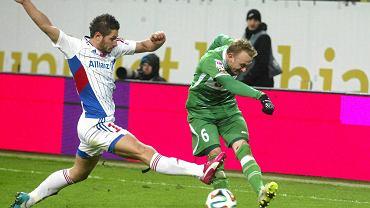 Lechia Gdańsk - Górnik Zabrze 1:0. Łukasz Madej(z lewej) i Sebastian Mila
