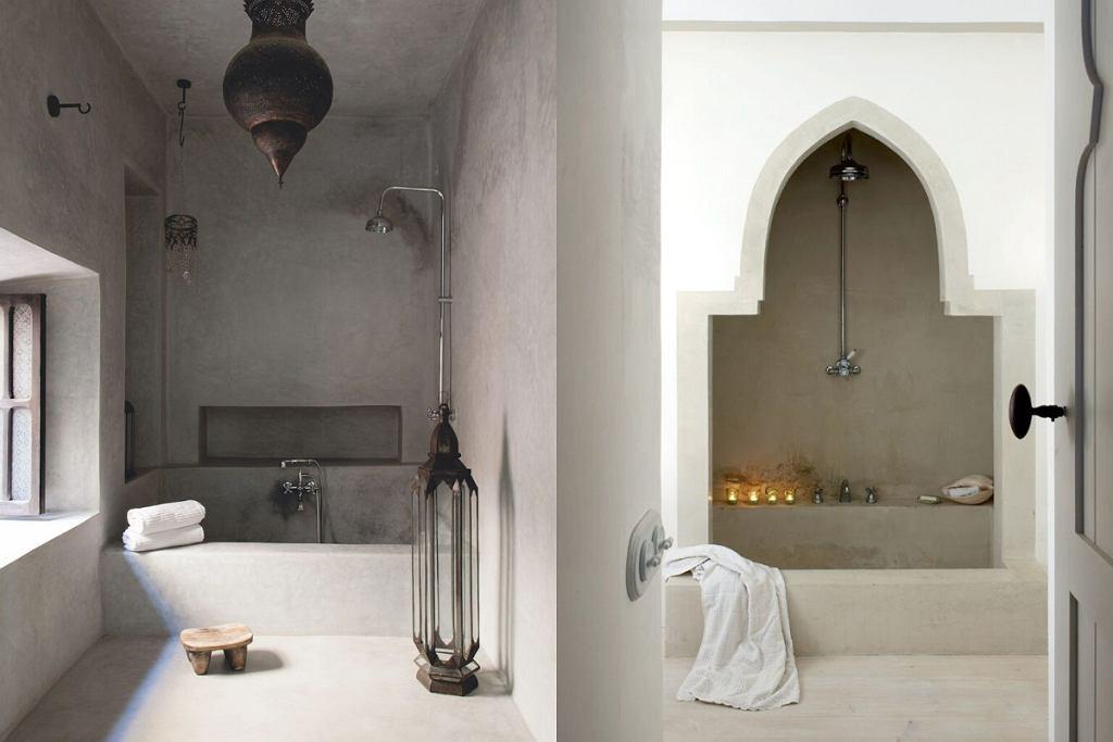 Ascetyczna łazienka w stylu orientalnym.