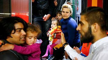 Migranci na stacji w Wiedniu