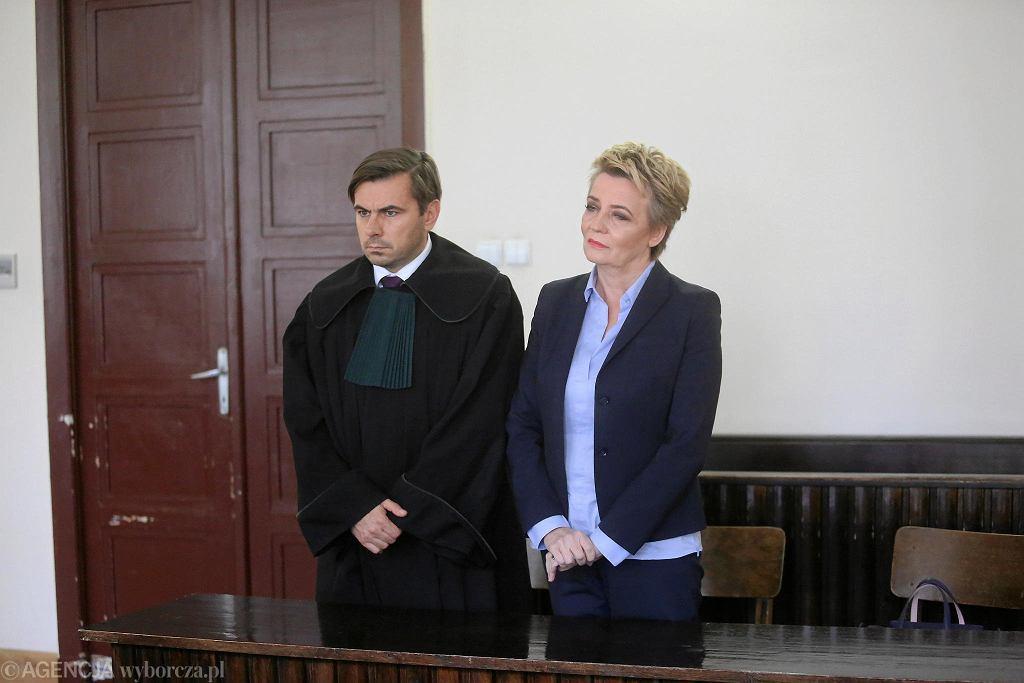 Hanna Zdanowska w sądzie