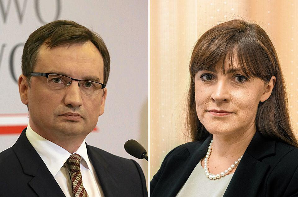 Zbigniew Ziobro i Justyna Koska-Janusz
